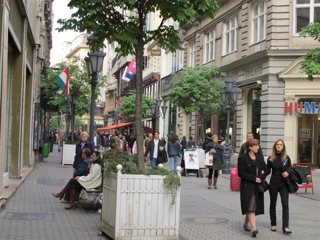 Vaci utca shopping street