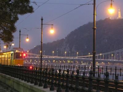 Tram along the Danube