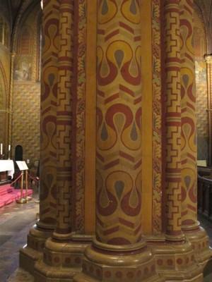 Columns inside St. Matthias Church
