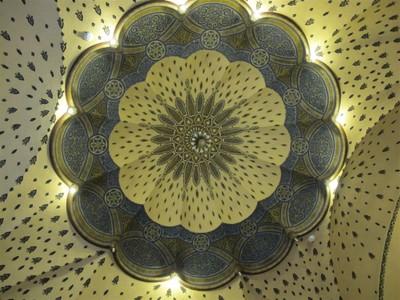 Ceiling of the Gellert Spa