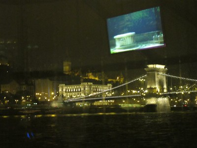 Boat Tour down the Danube on a Rainy Night