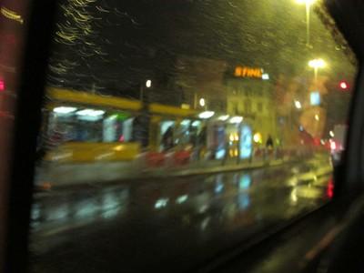 Sadly leaving Budapest early one rainy morning