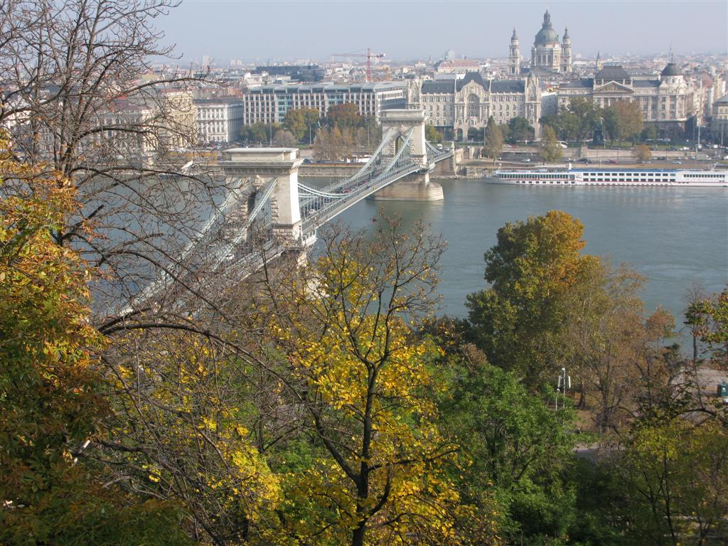 View of Pest across the Danube from Buda - October 2009
