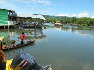 The Water Taxi runs every half hour back and forth from Almirante to Isla Colon where the town of Bocas is located.