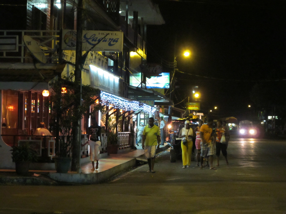 Bocas town at night