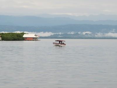 View across Saigon Bay to the mainland of Panama