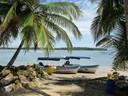 Tour boats at Boca del Drago
