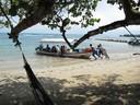 Tour boat launching