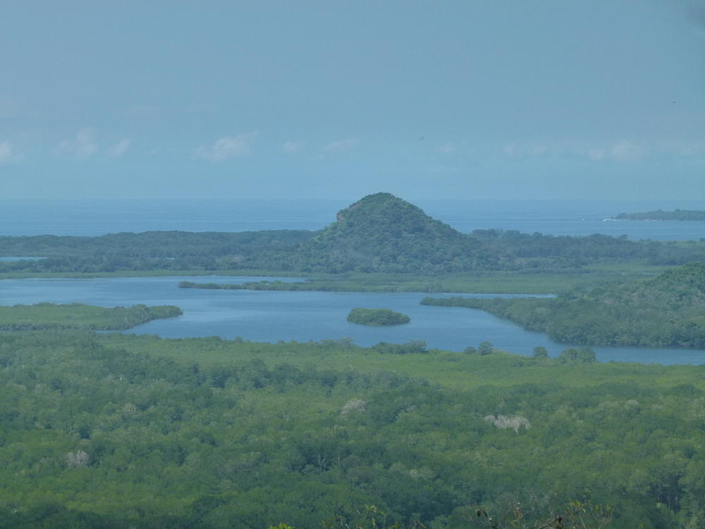 Important mountain on the shores of Chiriqui Bay