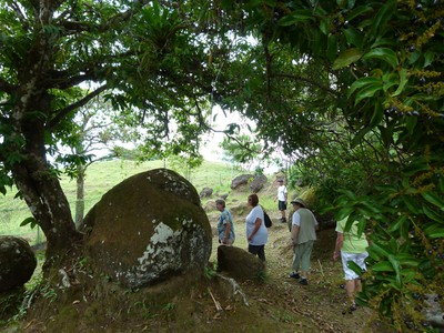Most of the boulders are in their original locations