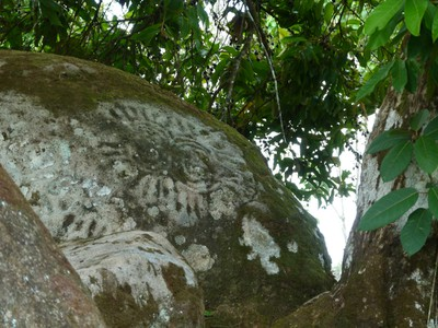 Petroglyphs are on most of the boulders