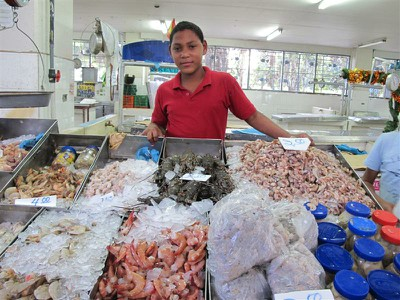 Panama City seafood shop