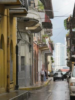 Casco Viejo looking towards modern Panama City